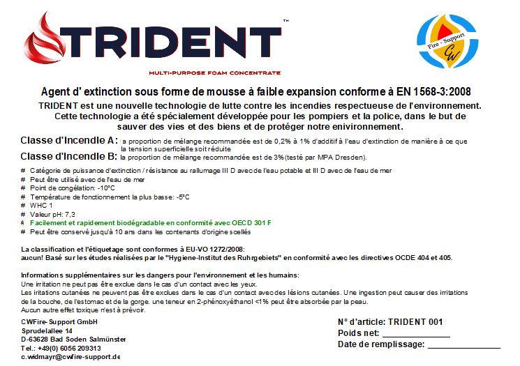 Trident - Agent d'extinction